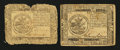 Colonial Notes:Continental Congress Issues, Two Continental Currency July 22, 1776 $5 Notes.... (Total: 2notes)