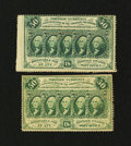 Fractional Currency:First Issue, Fr. 1310 and 1311 50¢ First Issue Notes.... (Total: 2 notes)