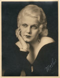 """Movie Posters:Miscellaneous, Jean Harlow by Pach Brothers Studio (MGM, 1930s). Portrait (11"""" X 14"""").. ..."""