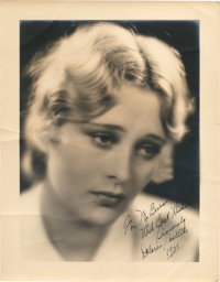 """Dolores Costello (Warner Brothers, 1928). Autographed Portrait (11"""" X 14"""")"""