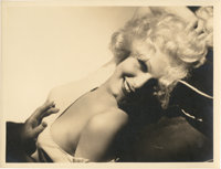 """Jean Harlow by George Hurrell (MGM, 1930s). Portrait (10"""" X 13"""")"""