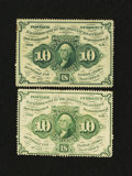 Fractional Currency:First Issue, Fr. 1240 and Fr. 1241 10¢ First Issue Notes.... (Total: 2 notes)