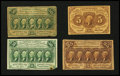 Fractional Currency:First Issue, Four First Issue Notes.... (Total: 4 notes)