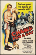 "Movie Posters:Sports, Champ for a Day (Republic, 1953). One Sheet (27"" X 41""). Sports.. ..."