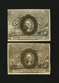Fractional Currency:Second Issue, A 25¢ and 50¢ Second Issue Duo Extremely Fine.... (Total: 2 notes)