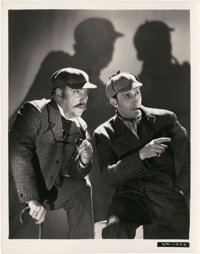 """Basil Rathbone and Nigel Bruce in """"The Hound Of The Baskervilles"""" (20th Century Fox, 1939). Photo (8"""" X 1..."""
