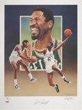 Basketball Collectibles:Others, Bill Russell Signed Lithograph by Christopher Paluso....