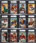 Football Cards:Sets, 1952 Bowman Large Football Partial Set (91/144) - #5 on the SGC Set Registry. ...