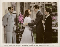 """Cary Grant, Katharine Hepburn, and James Stewart in """"The Philadelphia Story"""" (MGM, 1940). Color-Glos Photo (8&..."""