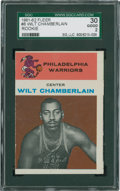 Basketball Cards:Singles (Pre-1970), 1961 Fleer Wilt Chamberlain #8 SGC 30 Good 2....