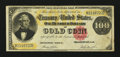 Large Size:Gold Certificates, Fr. 1214 $100 1882 Gold Certificate Fine+....