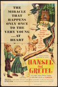 "Movie Posters:Animated, Hansel and Gretel (RKO, 1954). One Sheet (27"" X 41""). Animated....."