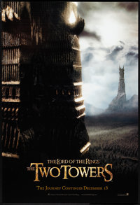 """The Lord of the Rings: The Two Towers (New Line, 2002). One Sheet (27"""" X 40"""") SS Advance Style D. Fantasy"""