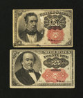 Fractional Currency:Fifth Issue, Fr. 1266 and Fr. 1309 Fifth Issue Notes.... (Total: 2 notes)