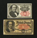 Fractional Currency:Fifth Issue, Fr. 1308 and 1381.... (Total: 2 notes)