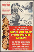 """Movie Posters:War, Men of the Fighting Lady Lot (MGM, 1954). One Sheets (2) (27"""" X41""""). War.. ... (Total: 2 Items)"""