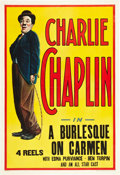 """Movie Posters:Comedy, Charlie Chaplin in """"Burlesque on Carmen"""" (Essanay, ca. 1916). One Sheet (27"""" X 41"""").. ..."""