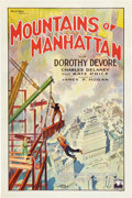 "Movie Posters:Drama, Mountains of Manhattan (Gotham, 1927). One Sheet (27"" X 41"") StyleB.. ..."