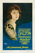"Movie Posters:Drama, Behind Masks (Paramount, 1921). One Sheet (27"" X 41"").. ..."