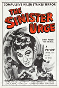 "Movie Posters:Crime, The Sinister Urge (Headliner Productions, 1960). One Sheet (28"" X42"").. ..."