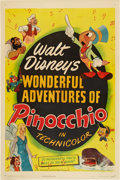 "Movie Posters:Animated, Pinocchio (RKO, R-1945). One Sheet (27"" X 41"").. ..."