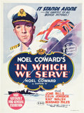 "Movie Posters:War, In Which We Serve (United Artists, 1942). Australian One Sheet (27""X 40"").. ..."