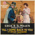 "Movie Posters:War, Till I Come Back to You (Artcraft, 1918). Six Sheet (81"" X 81"")....."