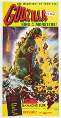 "Movie Posters:Science Fiction, Godzilla (Trans World, 1956). Three Sheet (41"" X 81"").. ..."