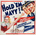 "Movie Posters:Sports, Hold 'em Navy (Paramount, 1937). Six Sheet (81"" X 81"").. ..."