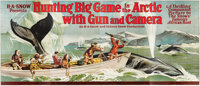 """Hunting Big Game in the Arctic with Gun and Camera (H.A. Snow, 1925). 24 Sheet (104"""" X 232"""")"""