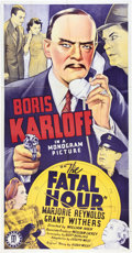 """Movie Posters:Mystery, The Fatal Hour (Monogram, 1940). Three Sheet (41"""" X 81"""").. ..."""