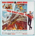 "Movie Posters:James Bond, You Only Live Twice (United Artists, 1967). Six Sheet (81"" X 81"").. ..."