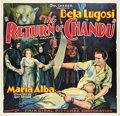"Movie Posters:Serial, The Return of Chandu (Principal Distributing, 1934). Six Sheet (81"" X 81"").. ..."