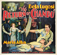 "The Return of Chandu (Principal Distributing, 1934). Six Sheet (81"" X 81"")"