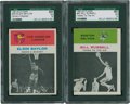 Basketball Cards:Lots, 1961 Fleer Elgin Baylor and Bill Russell SGC Graded Cards Lot of2....