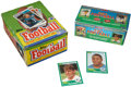 Football Cards:Boxes & Cases, 1987 Topps Football Display Box and 1989 Score Factory Set. ...