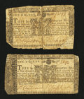 Colonial Notes:Maryland, Two Maryland March 1, 1770 $1 Notes.... (Total: 2 notes)