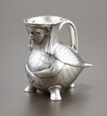 Silver Holloware, British:Holloware, A VICTORIAN SILVER FIGURAL CREAMER. Robert Hennell IV, London,England, 1874-75. Marks: (lion passant), (leopard's head), (d...