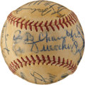 Autographs:Baseballs, 1951 Hall of Famers Multi-Signed Ball with Cobb, Young, Foxx....