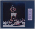 Boxing Collectibles:Autographs, Muhammad Ali Signed Pamphlet Display....