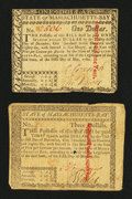 Colonial Notes:Massachusetts, Two Massachusetts May 5, 1780 Notes.... (Total: 2 notes)