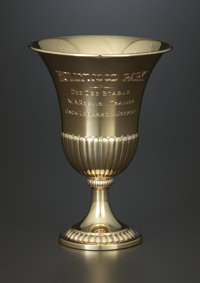 AN AMERICAN GOLD PRESENTATION GOBLET Howes, circa 1963 Marks: HOWES, 14K 6 x 4-3/8 inches diamete