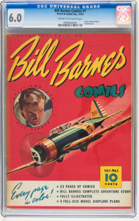 Bill Barnes Comics #1 (Street & Smith, 1940) CGC FN 6.0 Cream to off-white pages