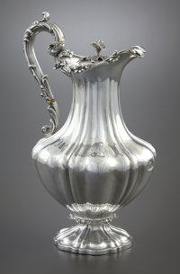 A VICTORIAN SILVER WINE JUG Edward, Edward, Jr., John & William Barnard, London, England, 1833-1834 Marks: (lio