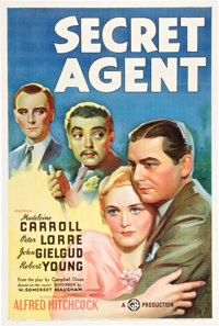 "Secret Agent (Gaumont, 1936). One Sheet (27"" X 41"")"