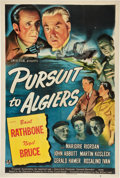 "Movie Posters:Mystery, Pursuit to Algiers (Universal, 1945). One Sheet (27"" X 41"").. ..."