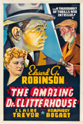 "Movie Posters:Crime, The Amazing Dr. Clitterhouse (Warner Brothers, 1938). Other CompanyOne Sheet (27"" X 41"").. ..."
