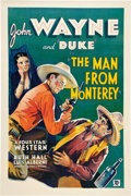 """Movie Posters:Western, The Man from Monterey (Warner Brothers - First National, 1933). One Sheet (27"""" X 41"""").. ..."""