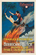 """Movie Posters:Serial, Hurricane Hutch (Pathé, 1921). One Sheet (27"""" X 41"""") Episode 1 -- """"The Secret Cipher."""". ..."""