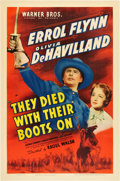 """Movie Posters:Western, They Died With Their Boots On (Warner Brothers, 1941). One Sheet(27"""" X 41"""").. ..."""